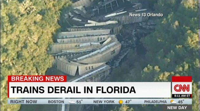 Trains Derail In Florida
