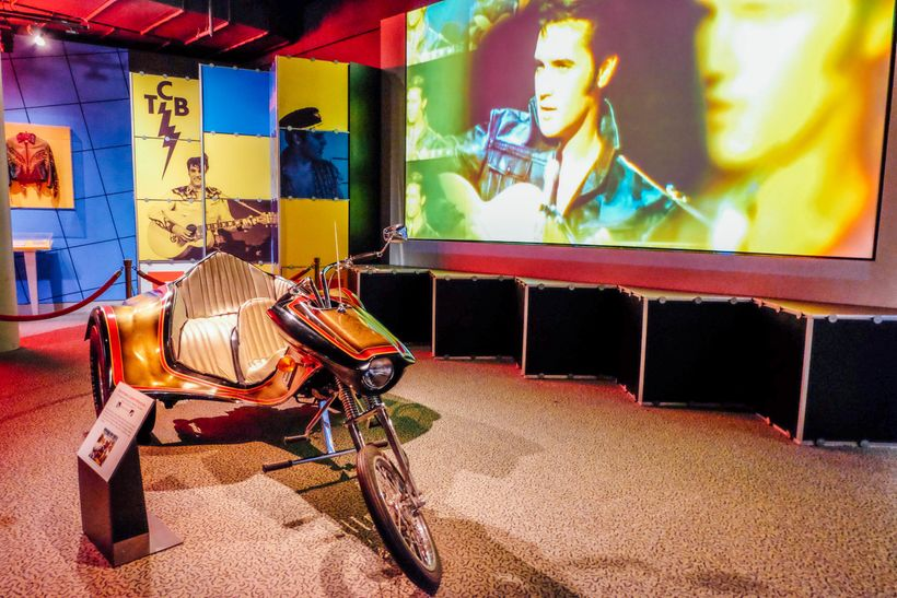 Elvis exhibit at the Rock and Roll Hall of Fame