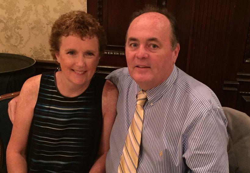 Glenn McMahon with his wife, Kathy.