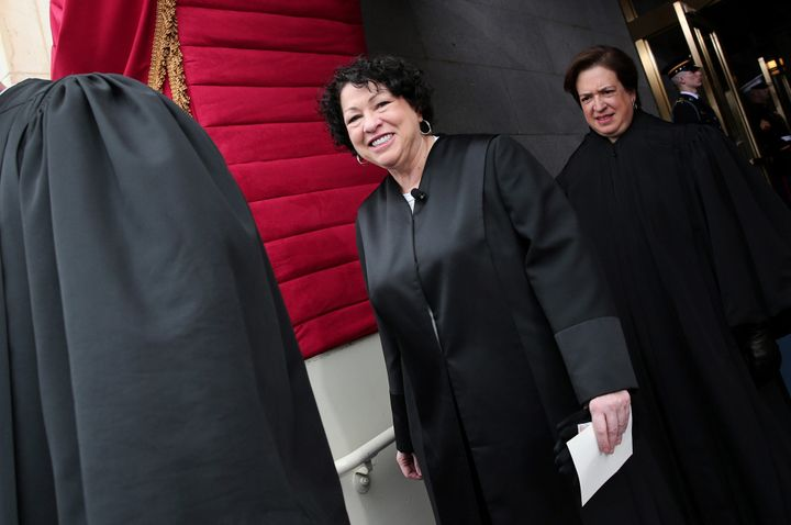 Justice Sonia Sotomayor, here at the second inauguration of President Barack Obama, who in 2009 made her the first
