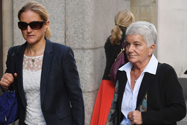 Kim and Jean Leadbeater, the sister and mother of Jo Cox, arrive at the Old