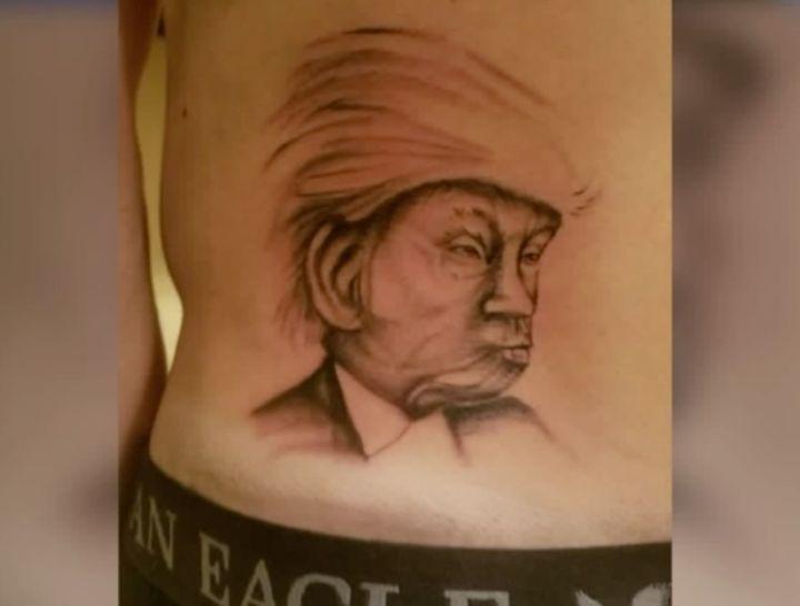 Zach Cobert supported Bernie Sanders but got a Donald Trump tattoo after losing an Election Day bet.