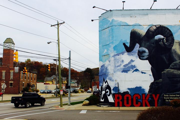 The Rocky outlet store in downtown Nelsonville occupies what once was a factory.