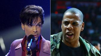 The record label for Prince has sued rap star Jay Zs entertainment company for copyright infringement
