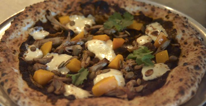 Bufalina serves a pizza made with produce that would otherwise have been thrown away at a private dinner on Oct. 9