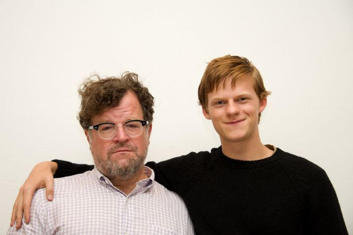 Writer-director Kenneth Lonergan and Lucas Hedges at the 'Manchester by the Sea' Press Conference at the Fairmont Hotel on Se