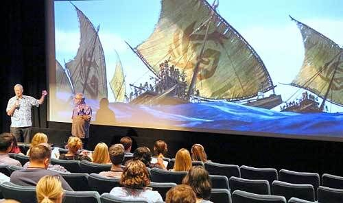 "John Musker and Ron Clements discuss the aspects of Oceanic History & culture that influenced ""Moana"" 's storyline."