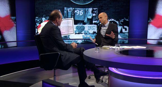 Bettison (left) was interviewed by Evan Davis on Newsnight on