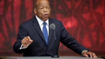 U.S. Rep. John Lewis (D-GA) speaks at the dedication of the Smithsonian's National Museum of African American History and Culture in Washington, U.S., September 24, 2016.      REUTERS/Joshua Roberts
