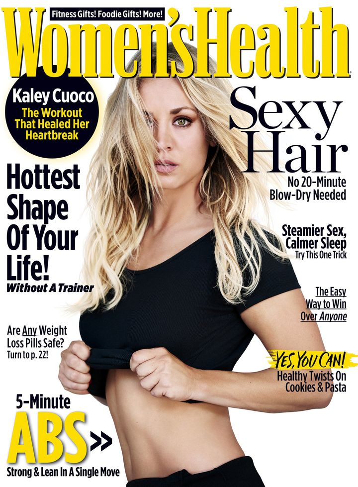 Kaley Cuoco on the latest cover of Women's Health.