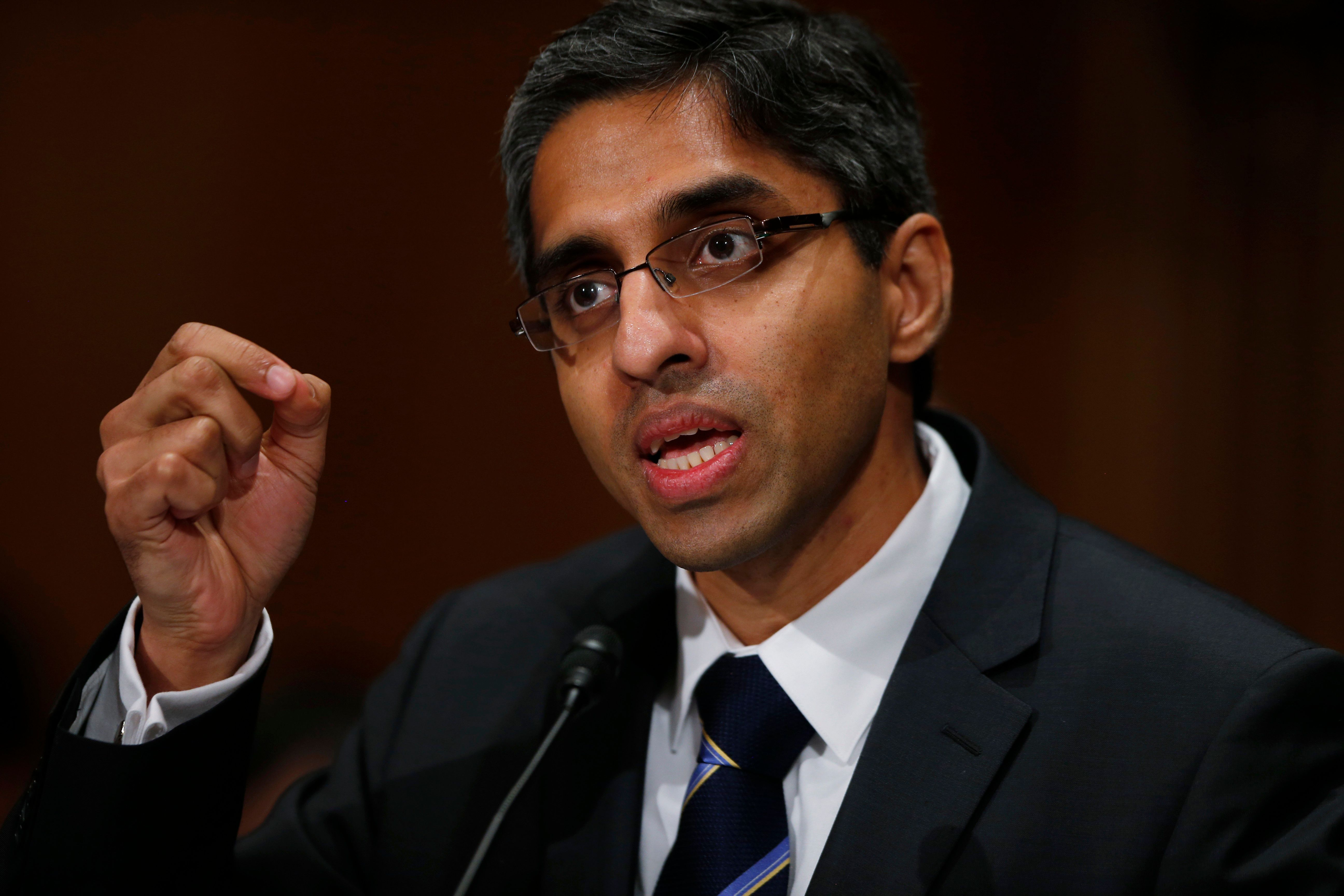 Surgeon General Dr. Vivek Murthy hopes his new report on drugs and alcohol will call attention to the public health crisis of