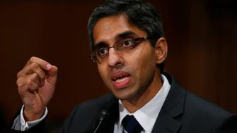 Dr. Vivek Hallegere Murthy, President Barack Obama's nominee to be the next U.S. Surgeon General, testifies on Capitol Hill in Washington, Tuesday, Feb. 4, 2014, before the Senate Health, Education, Labor, and Pensions (HELP) Committee hearing on his nomination. (AP Photo/Charles Dharapak)