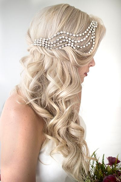 25 wedding hairstyles for brides with long hair huffpost photo credit hair and makeup by steph hair hair and makeup by steph junglespirit Choice Image