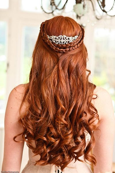 25 wedding hairstyles for brides with long hair huffpost photo credit captive photography by jo hughes junglespirit Choice Image