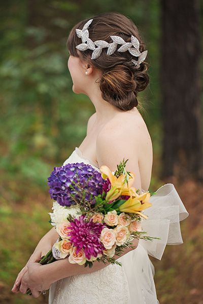 <p>For a fresh and relaxed take on a bridal updo, consider a pretty off-center style on the side of your hair that will be facing the audience during your ceremony. </p>