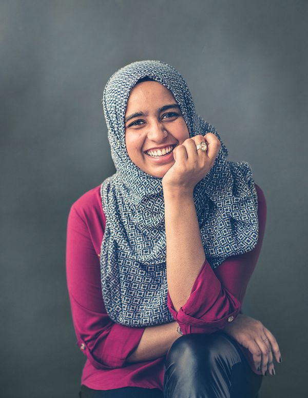 "Sadaf, 18, College student and Co-founder/CEO of media company REV 21: ""You have to have a seat at the table to make a real d"