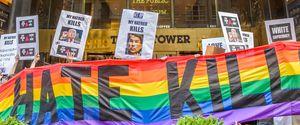 2016 ACTIVISM ACTUP ACTUPNY BIGOTRY DONALD TRUMP DUMP TRUMP GUN CONTROL HATE CRIME HOMOPHOBIA ISLAMOPHOBIA LGBTQ NEW YORK NYC ORLANDO PROTEST