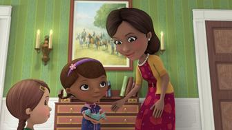 DOC MCSTUFFINS - 'Doc McStuffins Goes to Washington' - Doc and the toys travel to Washington D.C. to meet the First Lady of the United States, Michelle Obama, in a special episode of Disney Junior's acclaimed animated series 'Doc McStuffins,' premiering MONDAY, OCTOBER 5 (9:00 a.m., ET/PT) on Disney Channel. (Disney Junior via Getty Images)