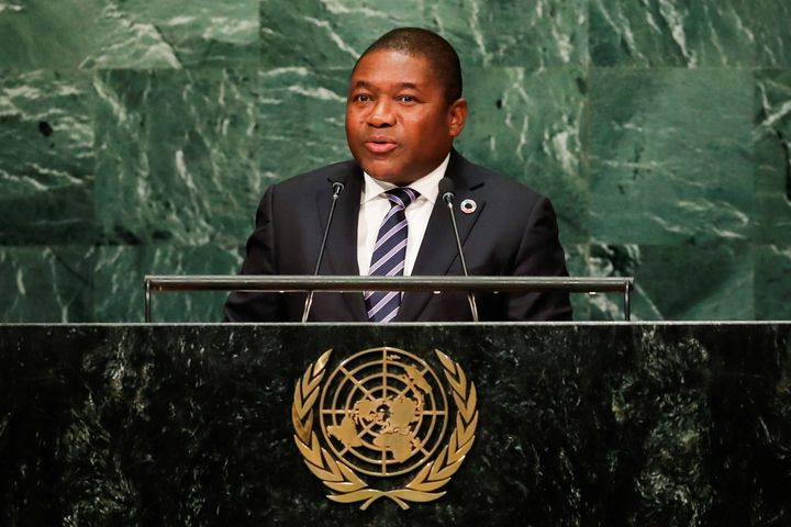 Mozambique President Filipe Jacinto Nyusi addresses the United Nations General Assembly in New York, September 21, 2016.
