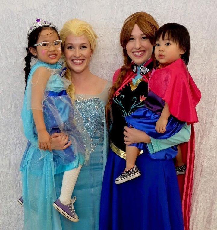 The princesses at work.