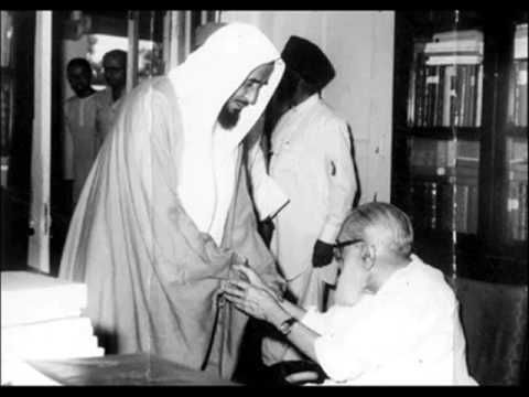 Birds of a feather flock together—Pakistan's ideological godfather, Maulana Maududi, greets a Saudi/Wahhabi Sheikh
