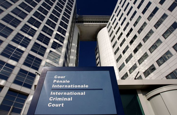 The entrance of the International Criminal Court (ICC) is seen in The Hague, Netherlands, on March 3, 2011.