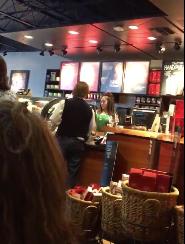 The customer accused the barista of refusing to serve him because he is a white Trump supporter.
