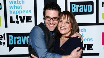 WATCH WHAT HAPPENS LIVE -- Episode 914 -- Pictured: (l-r) Ben Rimalower, Patti Lupone -- (Photo by: Peter Kramer/Bravo/NBCU Photo Bank via Getty Images)