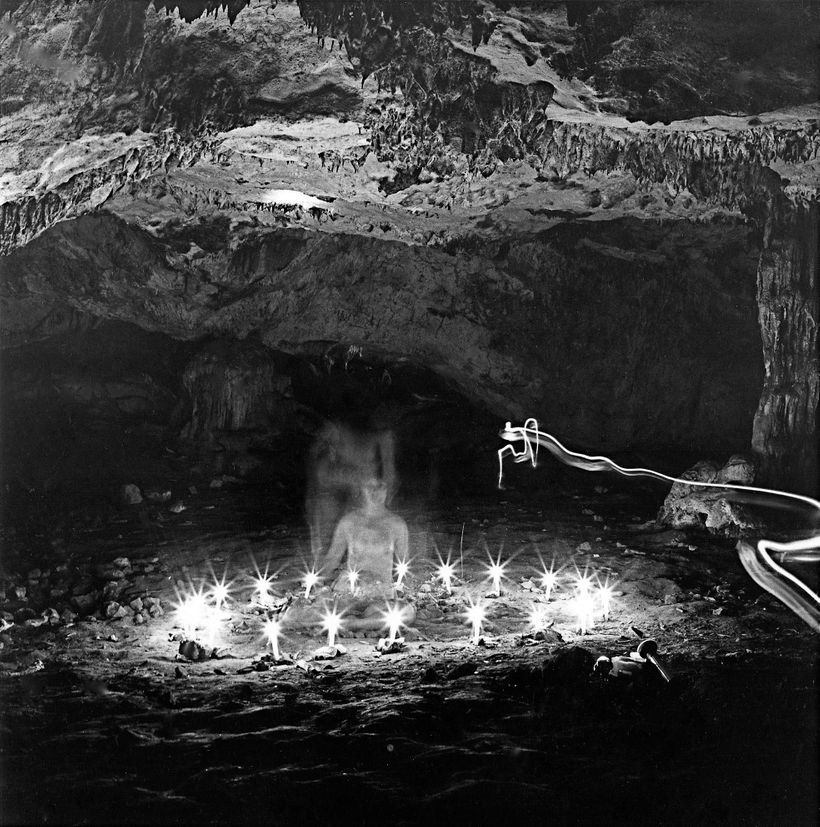 <em>Grapceva Neolithic Cave: See For Yourself, </em>1977 20x20 inches Photograph