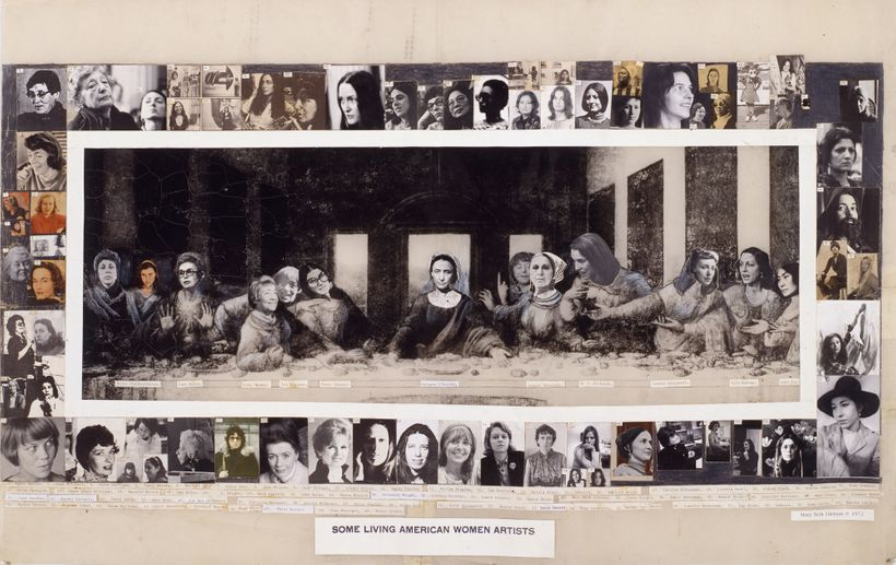 <em>Some Living American Women Artists, </em>1972 28.25x43 inches Collage poster