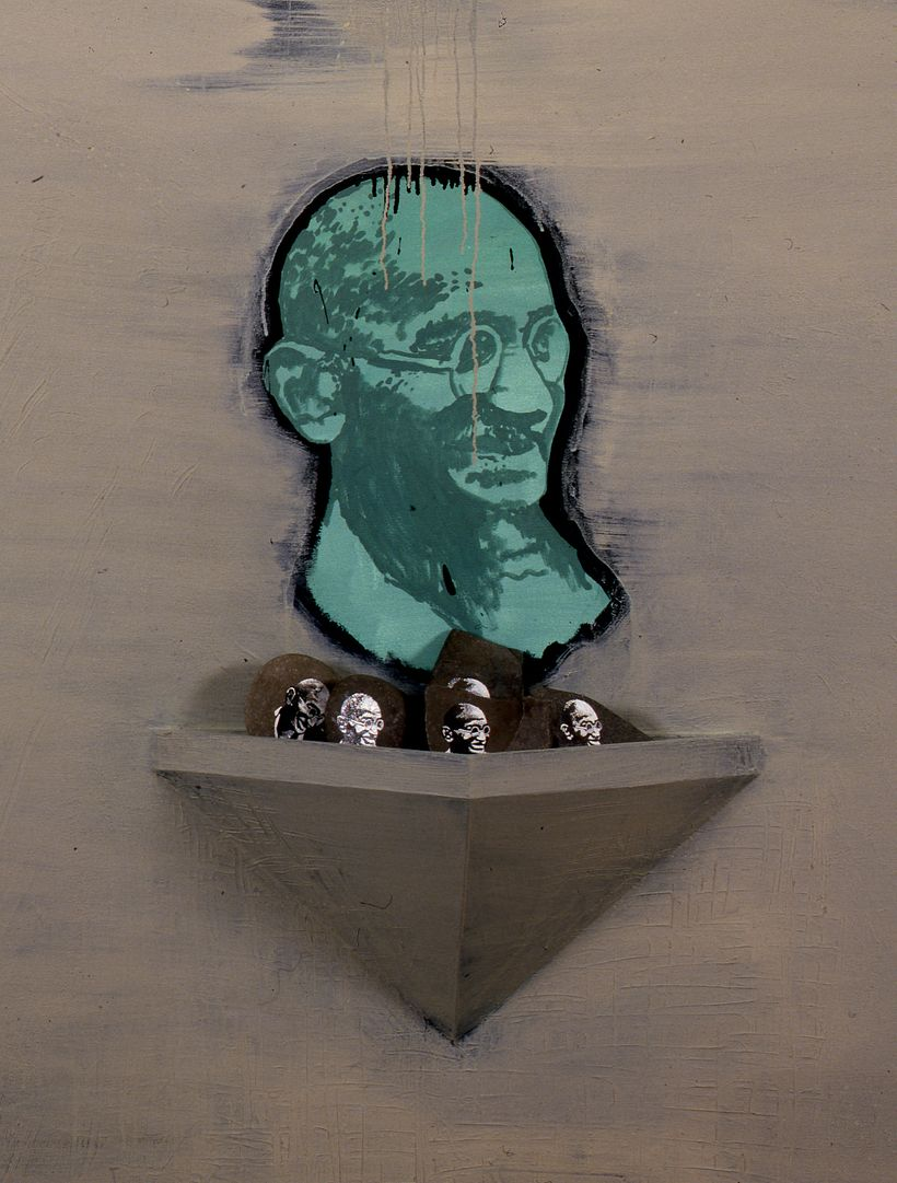 <em>Ghandi Painting</em> (detail)