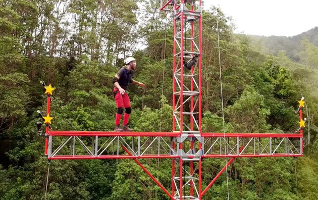 Joel conquered his fear of heights for the