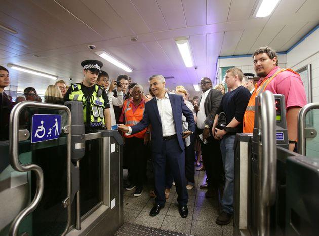 Sadiq Khan opening the Night Tube in