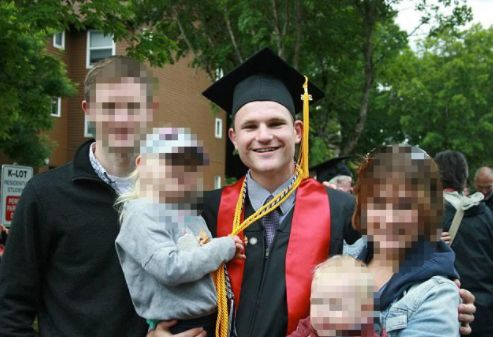 Colin Scott pictured at his graduation from Pacific