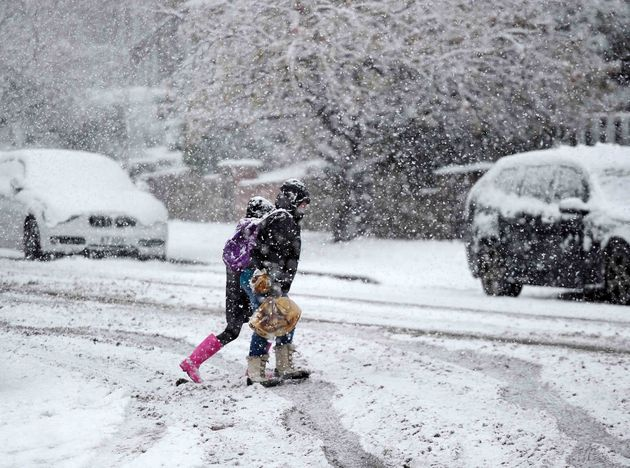 Snow in Greater Manchester on