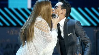 LAS VEGAS, NV - NOVEMBER 17:  Jennifer Lopez (L) and Marc Anthony perform onstage during the 17th Annual Latin Grammy Awards held at T-Mobile Arena on November 17, 2016 in Las Vegas, Nevada.  (Photo by Michael Tran/FilmMagic)