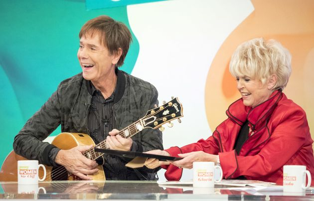 Gloria with close friend Cliff Richard on 'Loose
