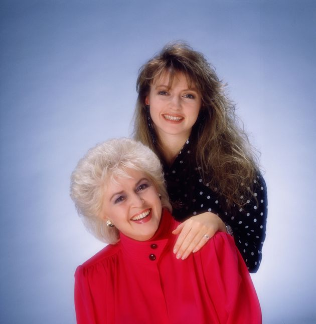 Gloria with daughter Caron Keating, who died in 2004 from