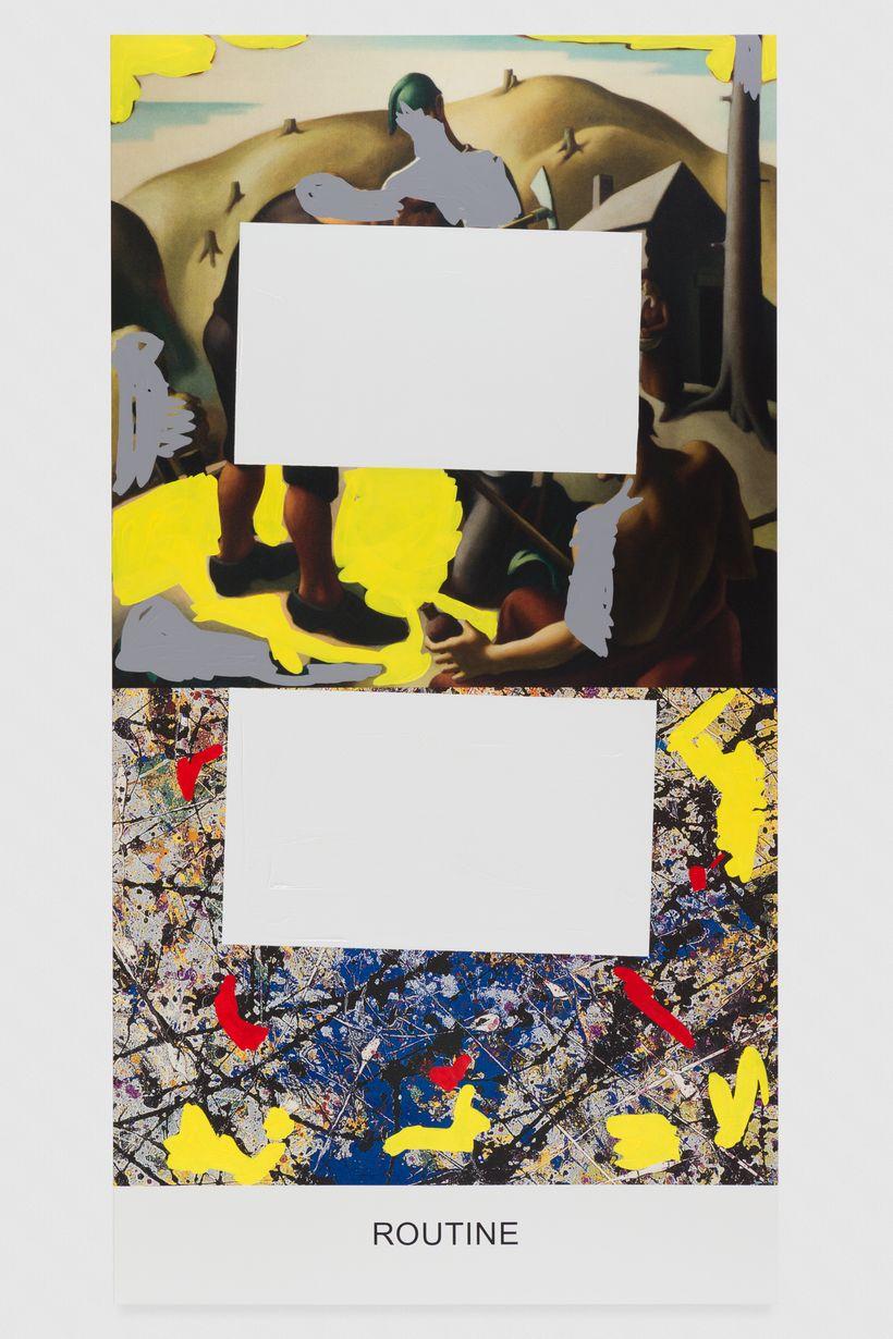 John Baldessari, <em>Pollock&#x2F;Benton: Routine</em>, 2016