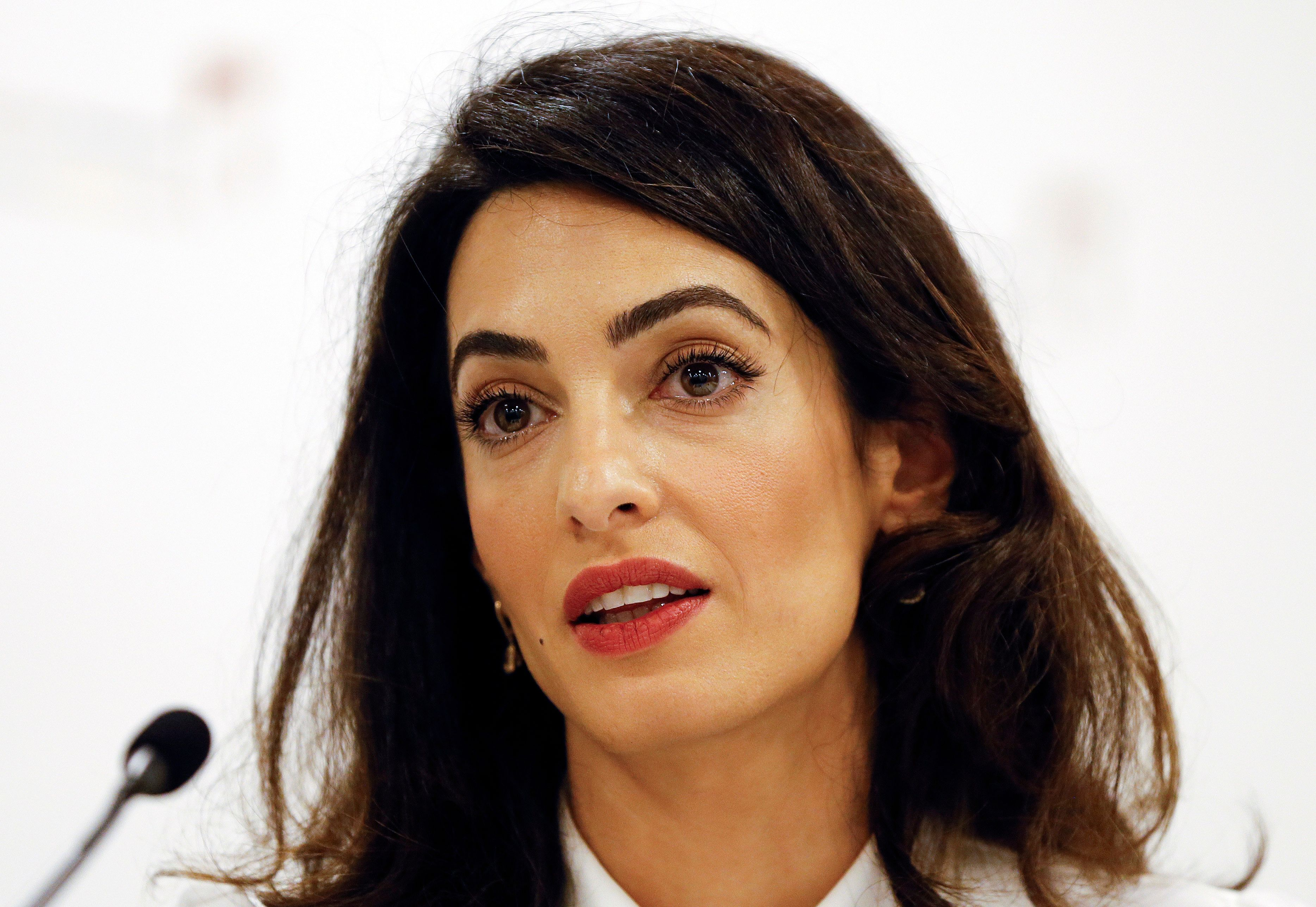 Amal Clooney Says Trump's Ideas 'Are Violations of International Human Rights