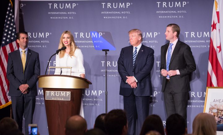 Donald Trump's children will run his business empire while he serves as president. Their appointment to his transit
