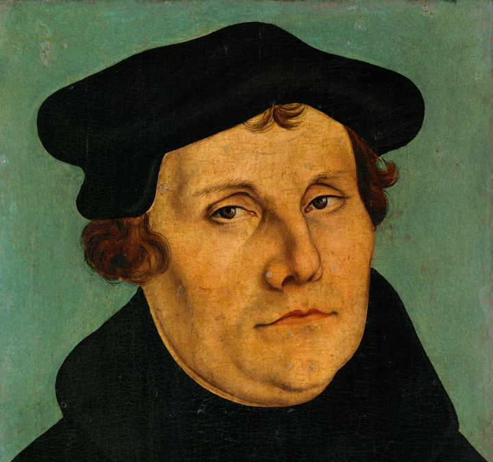Martin Luther (1483-1546) by Lucas Cranach the Elder.