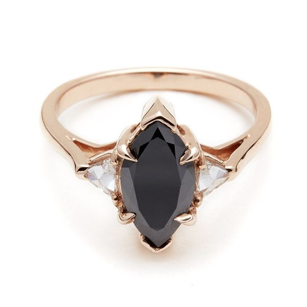 diamonds tw collections ring with white rings stone in gold of engagement karbon three wedding black carat
