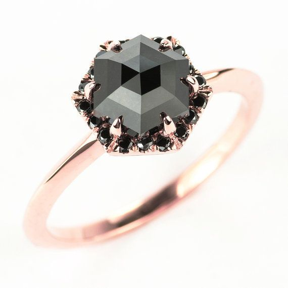 13 Black Engagement Rings For Brides With A Dark Side HuffPost
