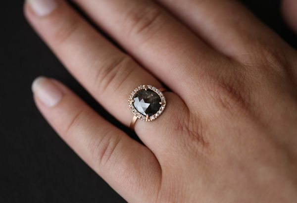 aphrodite moissanite products natural diamond ring black engagement gold a rings product skull