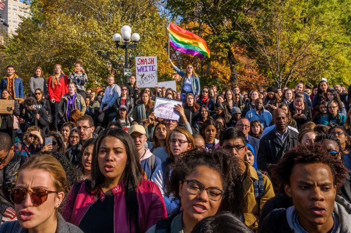 Students around the country have also organized walk outs to protest bigotry.