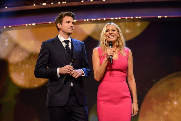 Greg James and Tess Daly were two of this year's