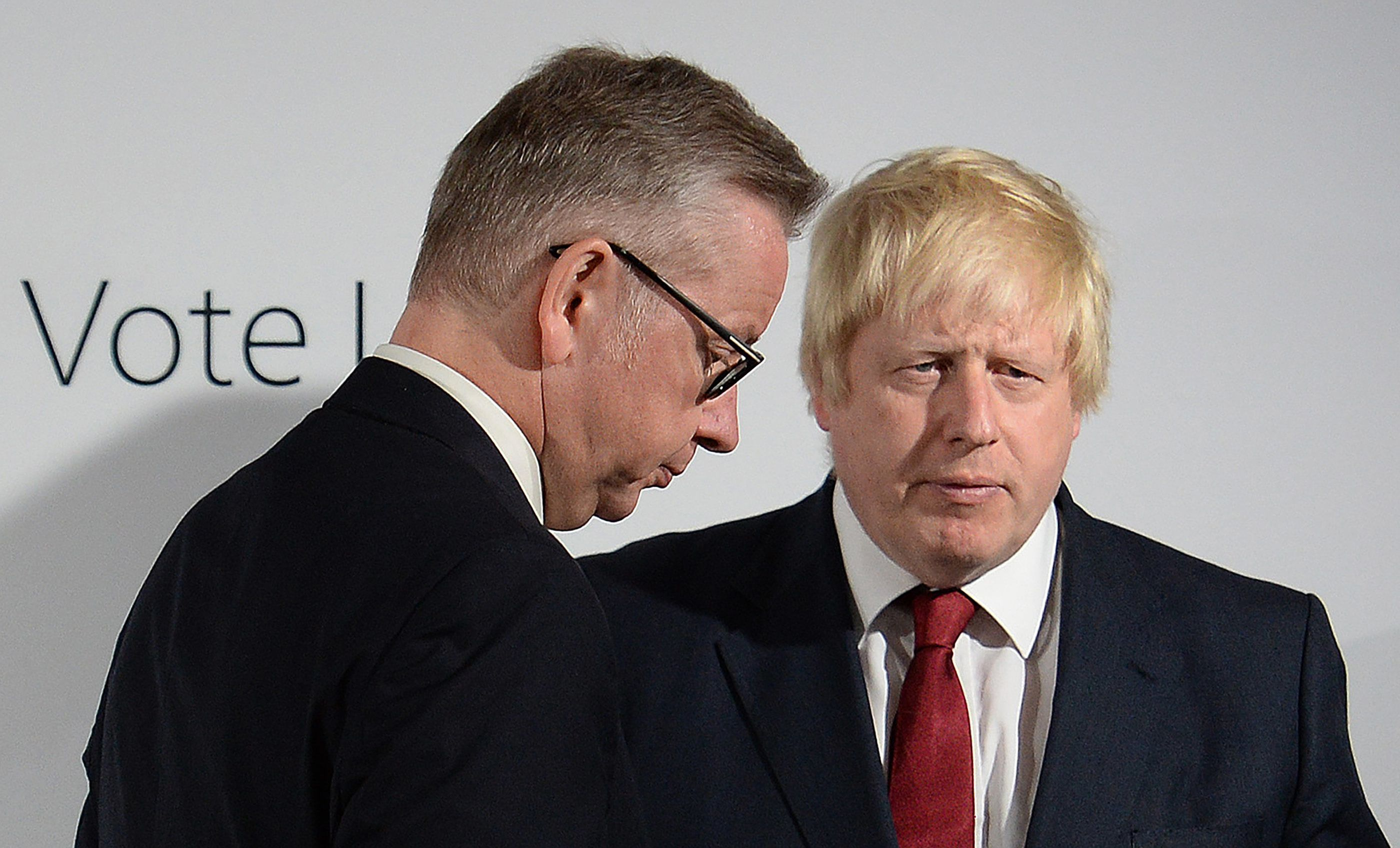 Michael Gove was accused of 'treachery' for standing against Boris Johnson in