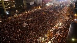 Thousands Demonstrate Against South Korean