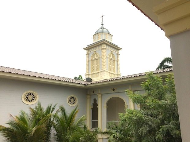 The bell tower is now a massage room at Hotel del Parque in Guayaquil, Ecuador.